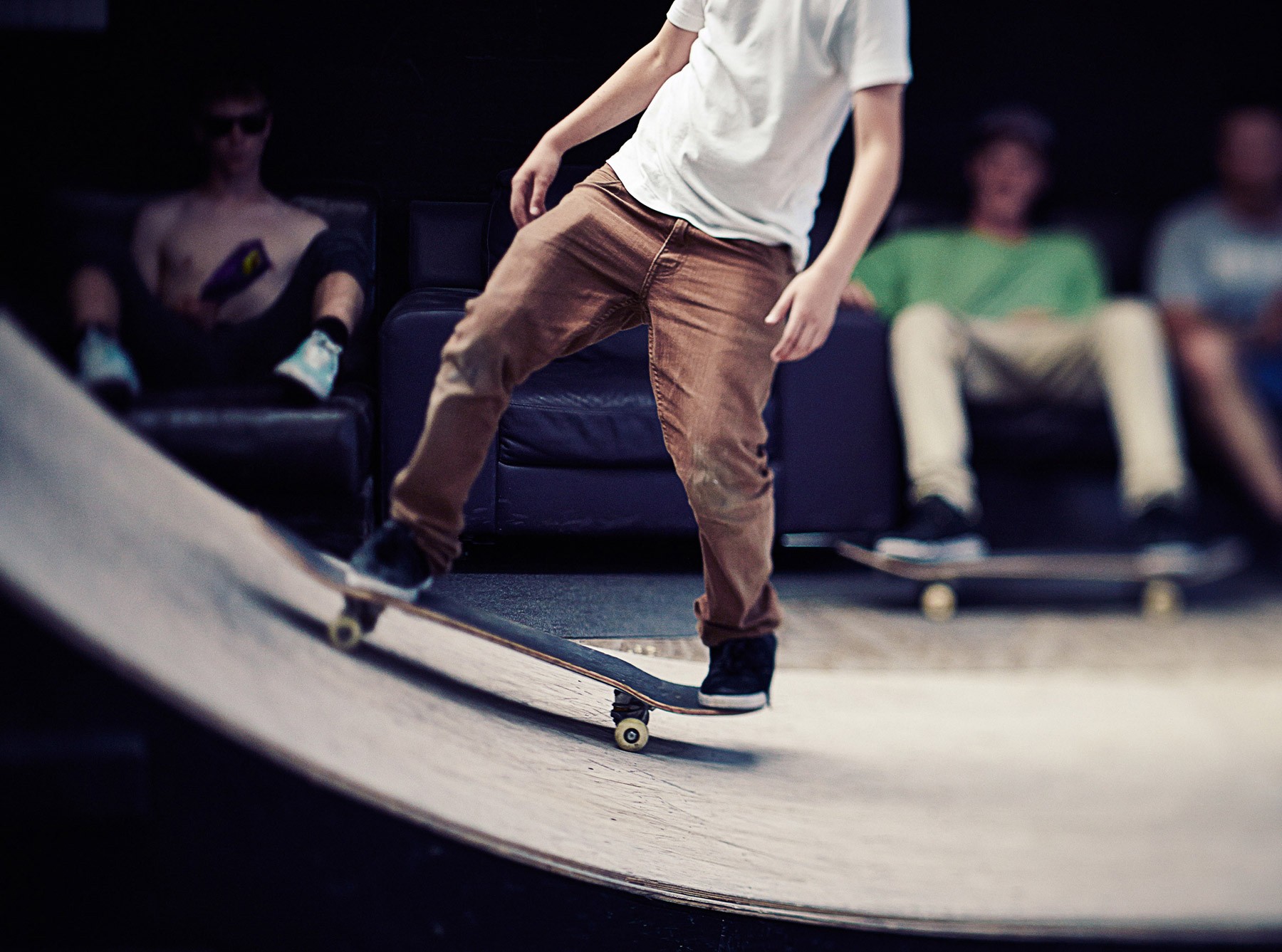 Skateboarding at Empire Skatepark