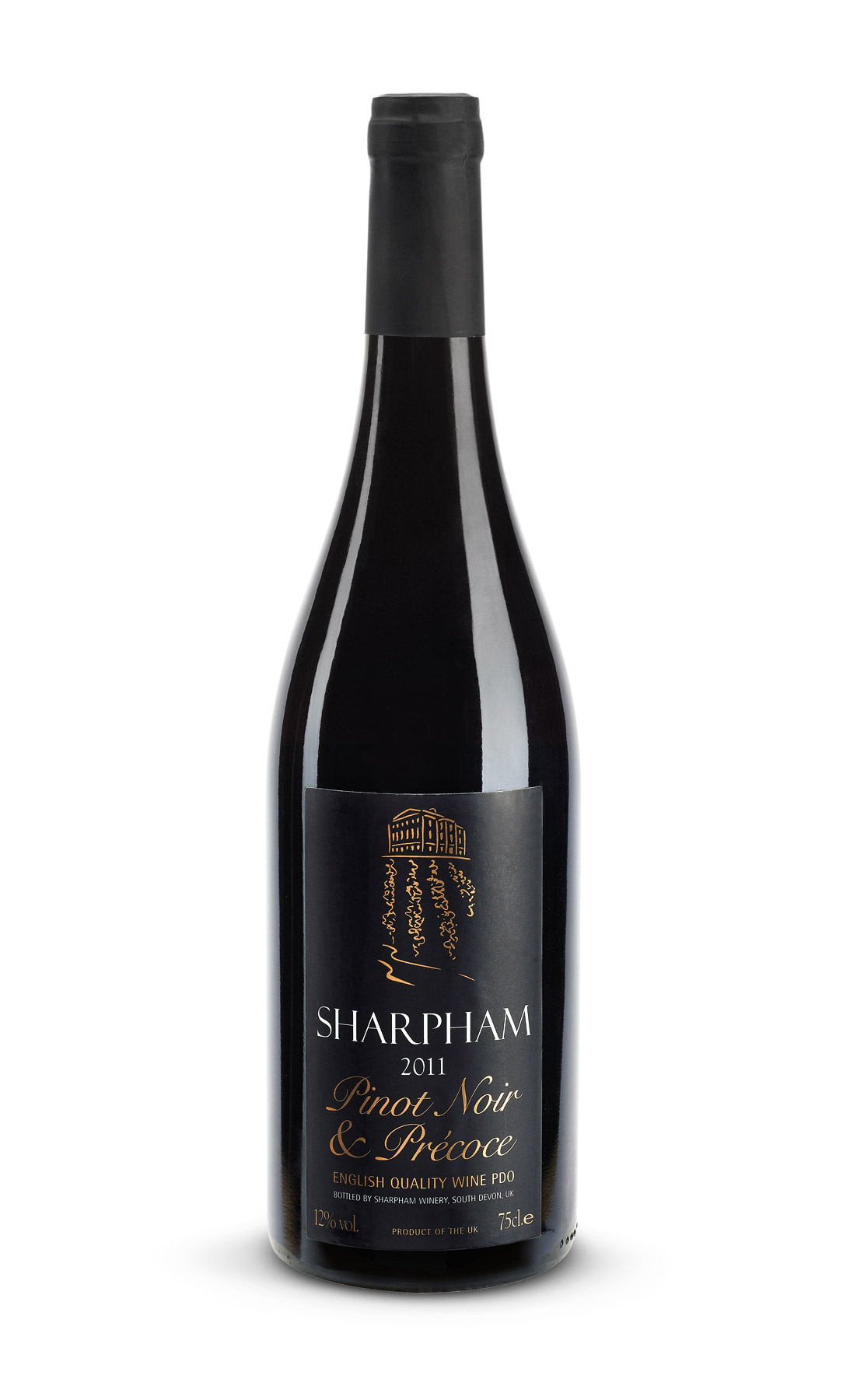 Sharpham Pinot Noir bottle shot