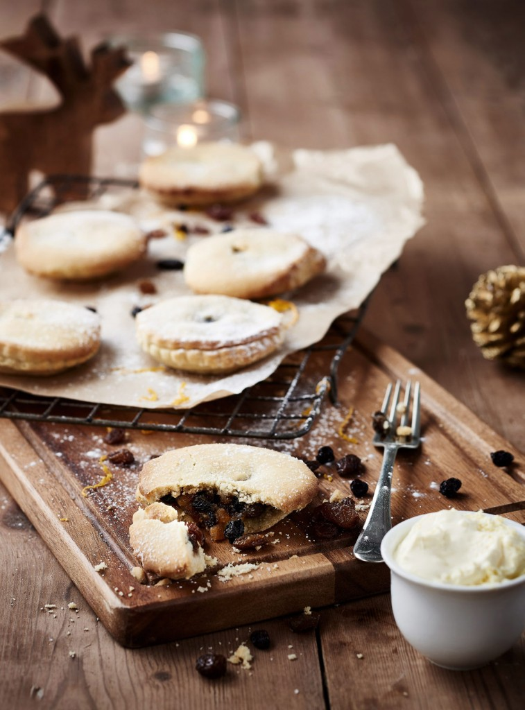 Co-op minced pies in a rustic table setting