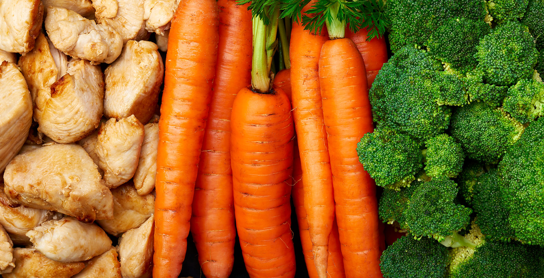 Chicken, carrots and broccoli