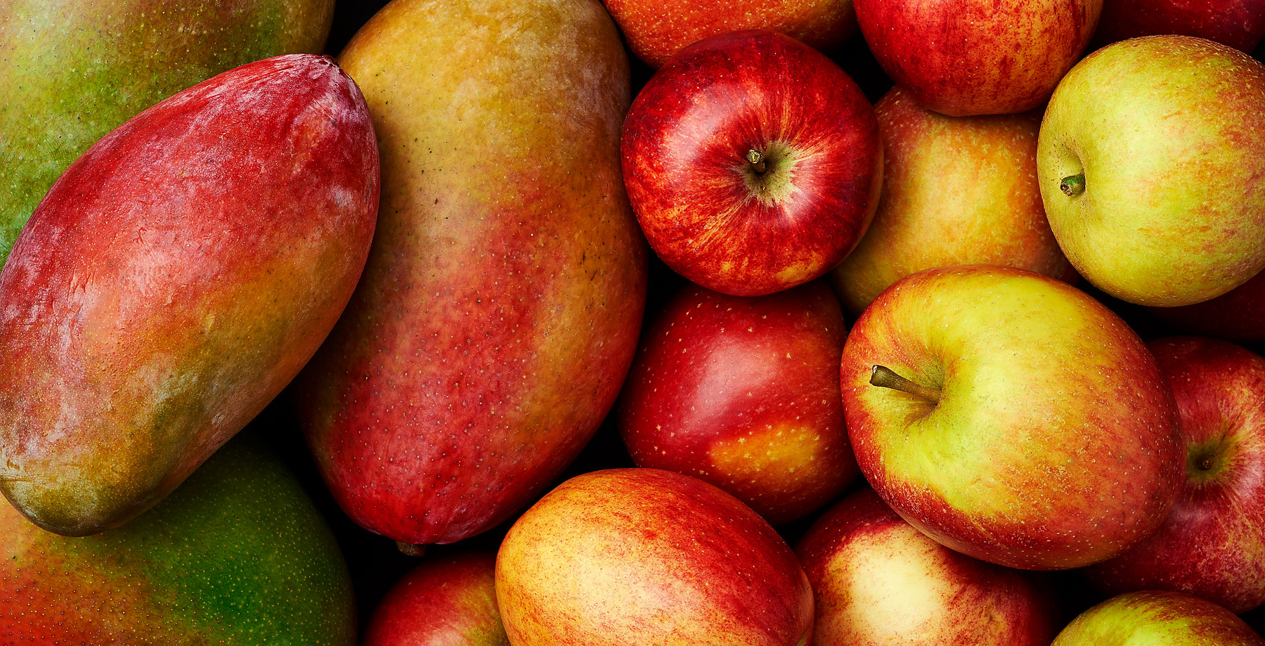 Mangoes and apples