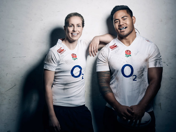Manu Tuilagi and Emily Scarratt for OPRO