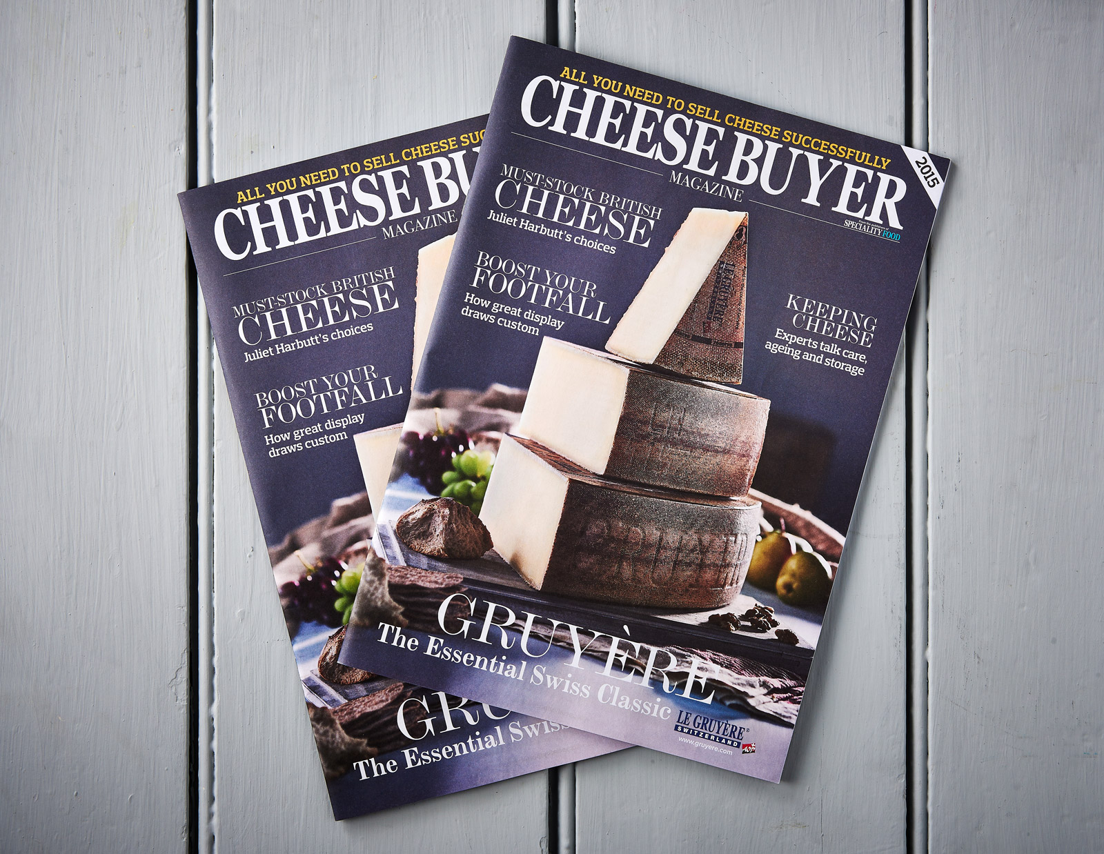 Gruyére cheese on the cover of Cheese Buyer