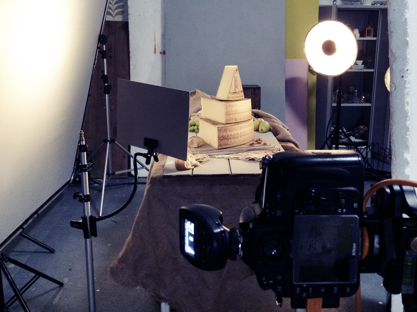Behind the scenes on our cover shoot featuring Gruyère cheese