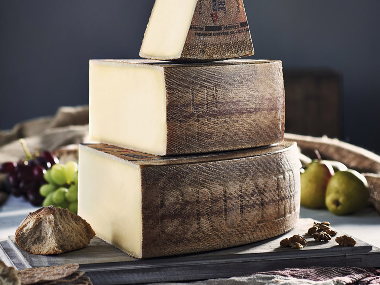 Gruyère cheese cover shot