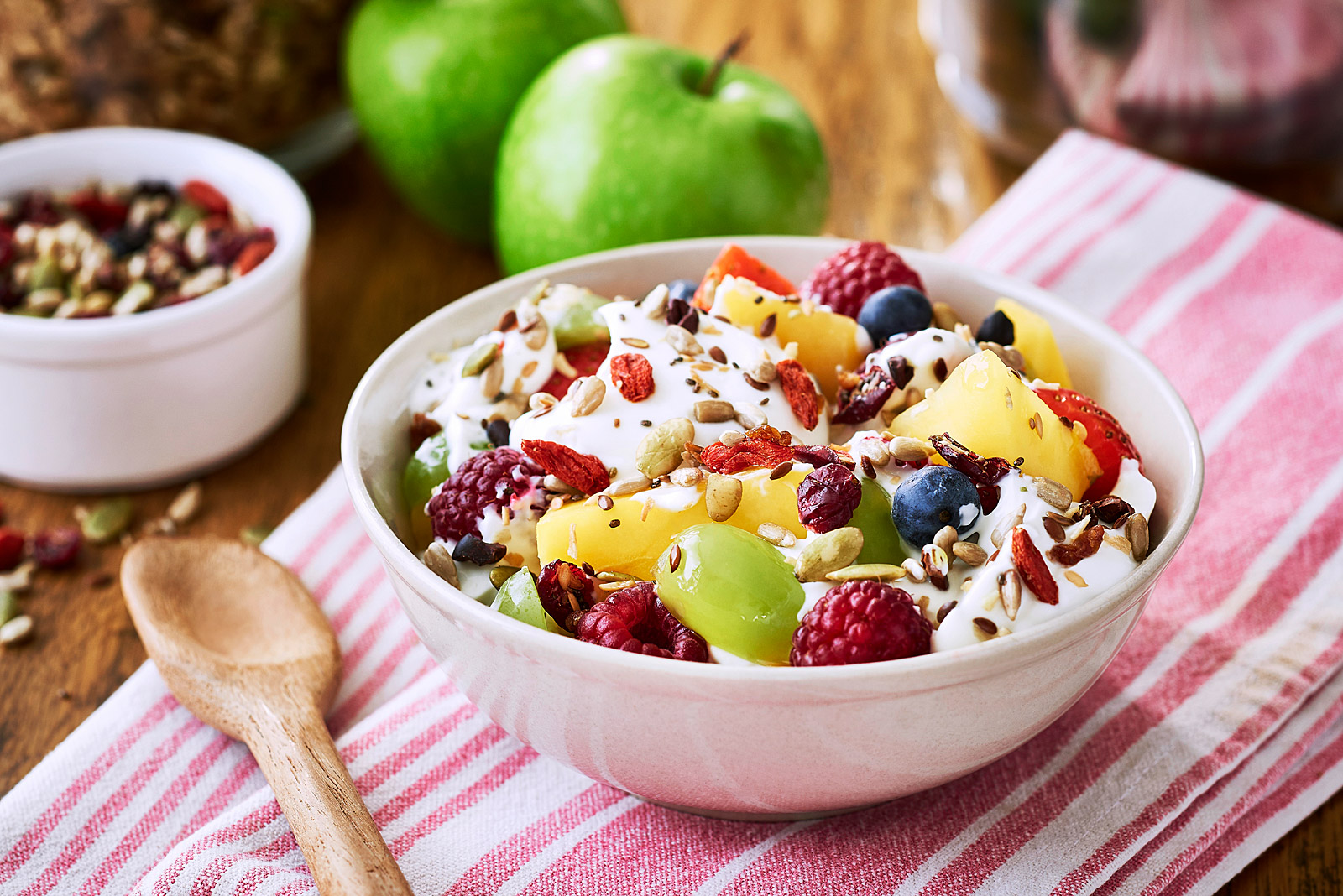 Munchy Seeds fruity breakfast bowl
