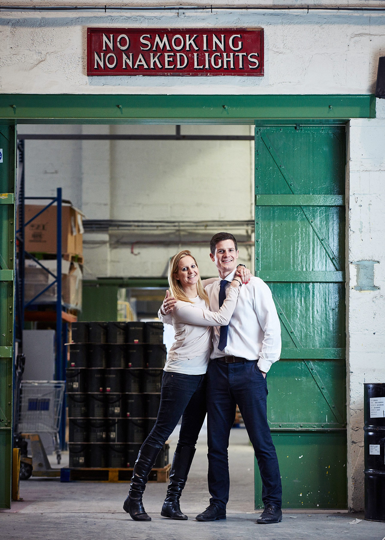 Ruth and Ben Mottershead at the Little Greene factory