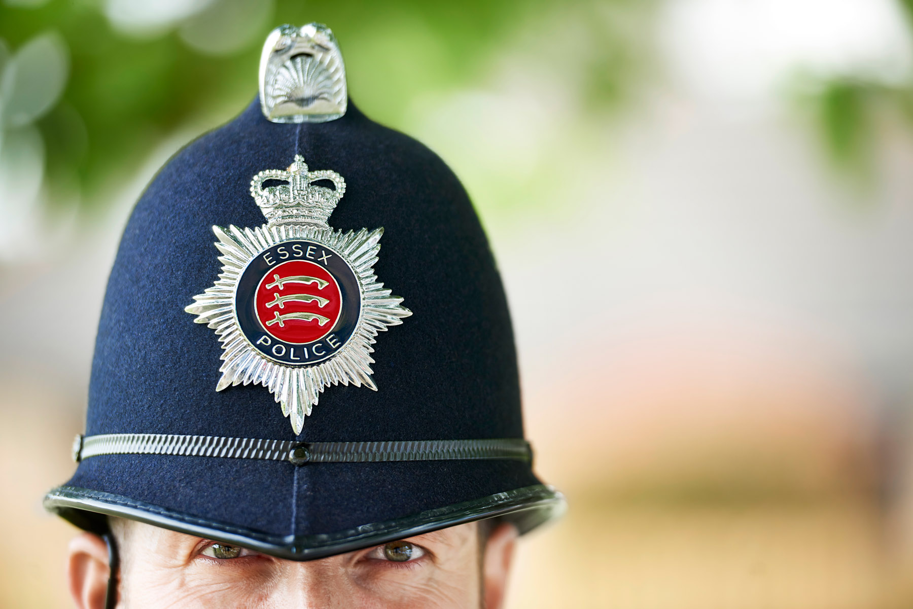 Close up of an Essex Police officer
