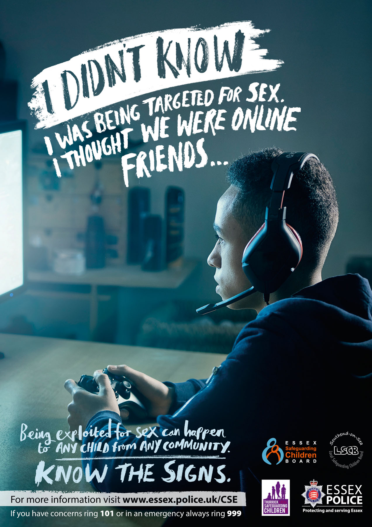 Essex Police CSE campaign poster 2