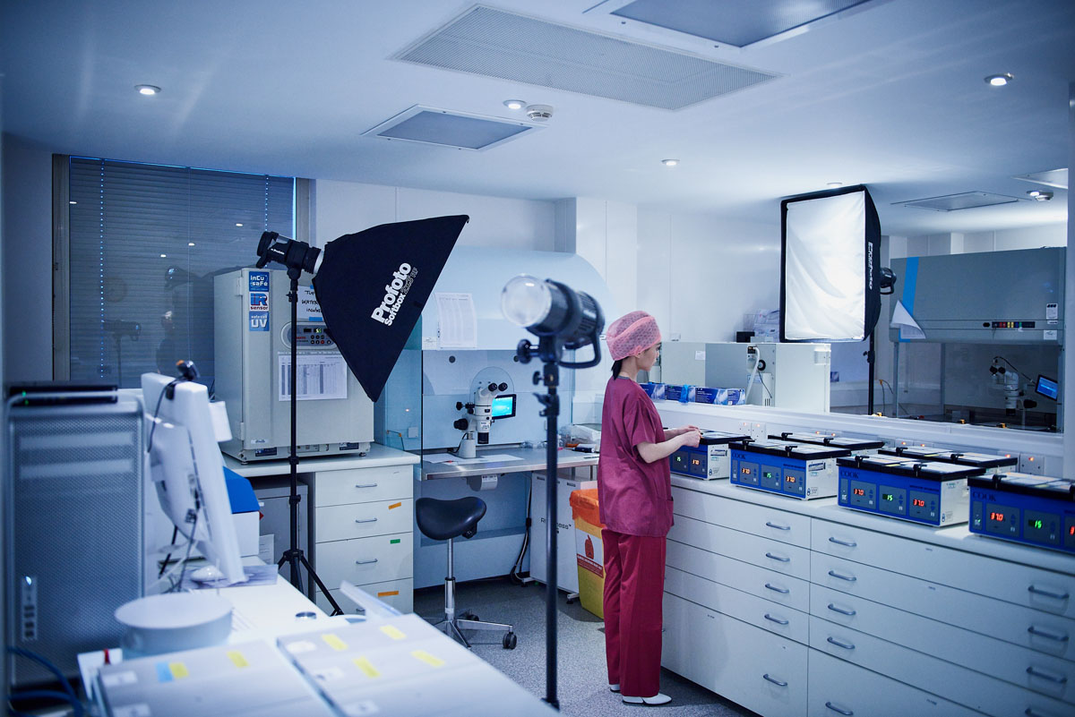 Lister Hospital photoshoot behind the scenes