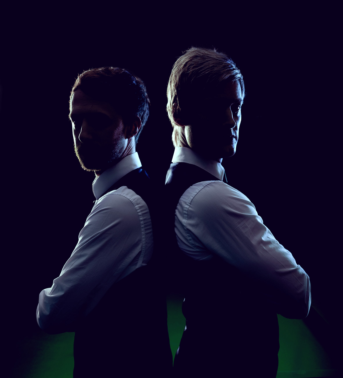 Judd Trump and Neil Robertson photographed for Snooker Live Pro by CliQQ Photography