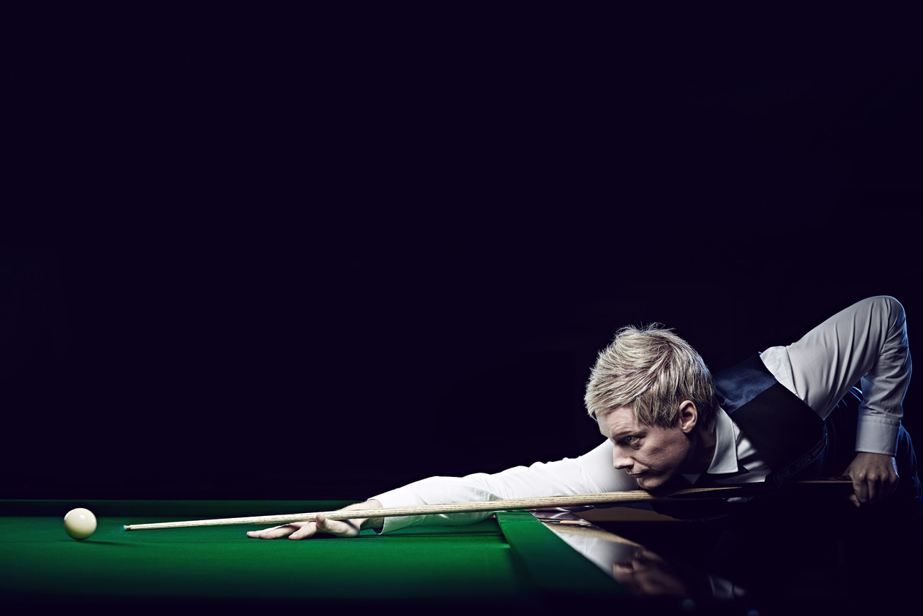 Neil Robertson photographed for Snooker Live Pro by CliQQ Photography