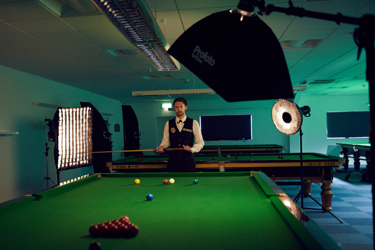 Behind the scenes with Judd Trump photographed by CliQQ Photography
