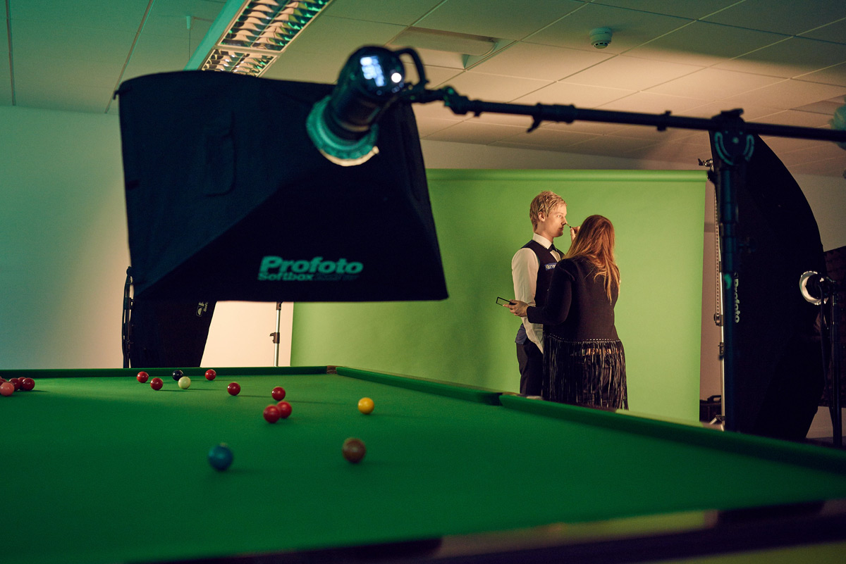 Behind the scenes with Neil Robertson photographed by CliQQ Photography