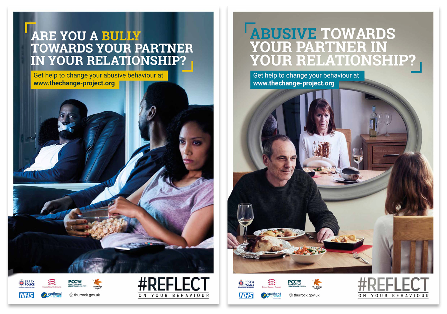 Essex Police Reflect campaign posters