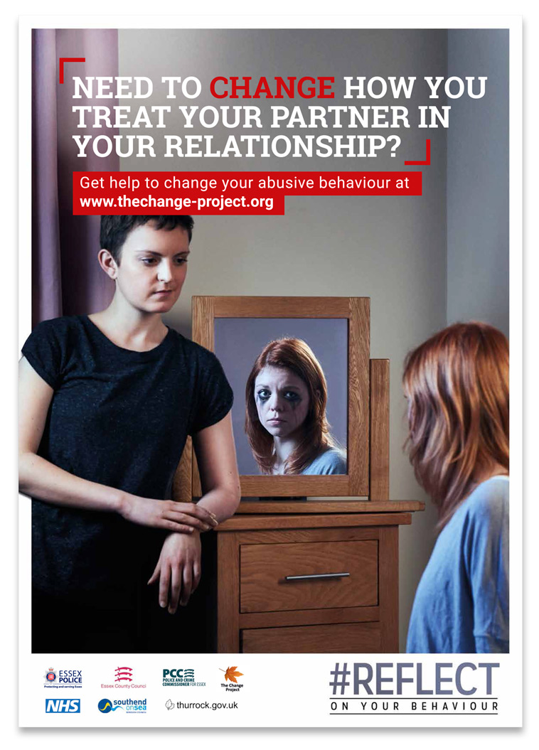 Essex Police Reflect campaign poster