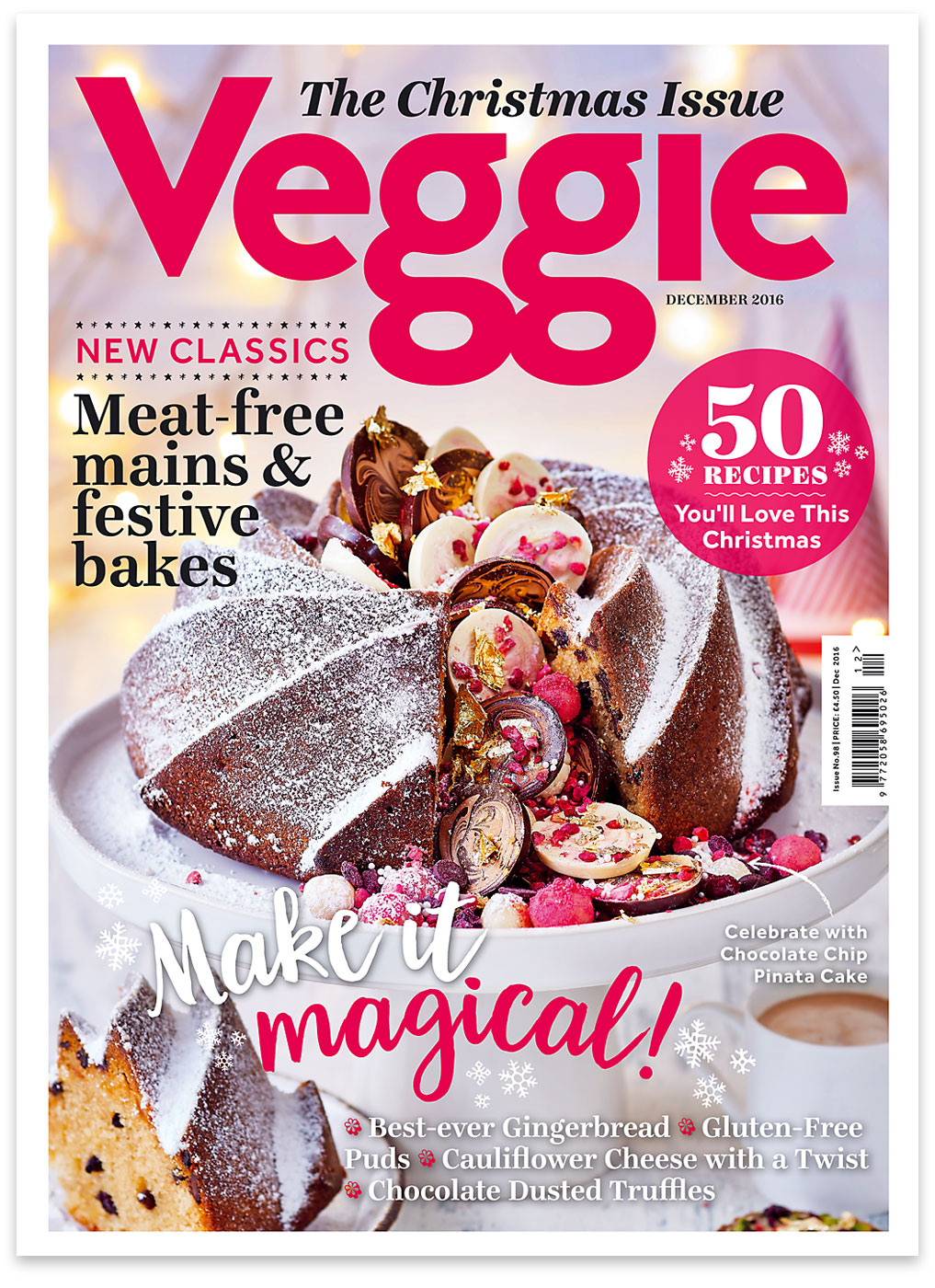 Veggie magazine December 2016 cover by CliQQ Photography