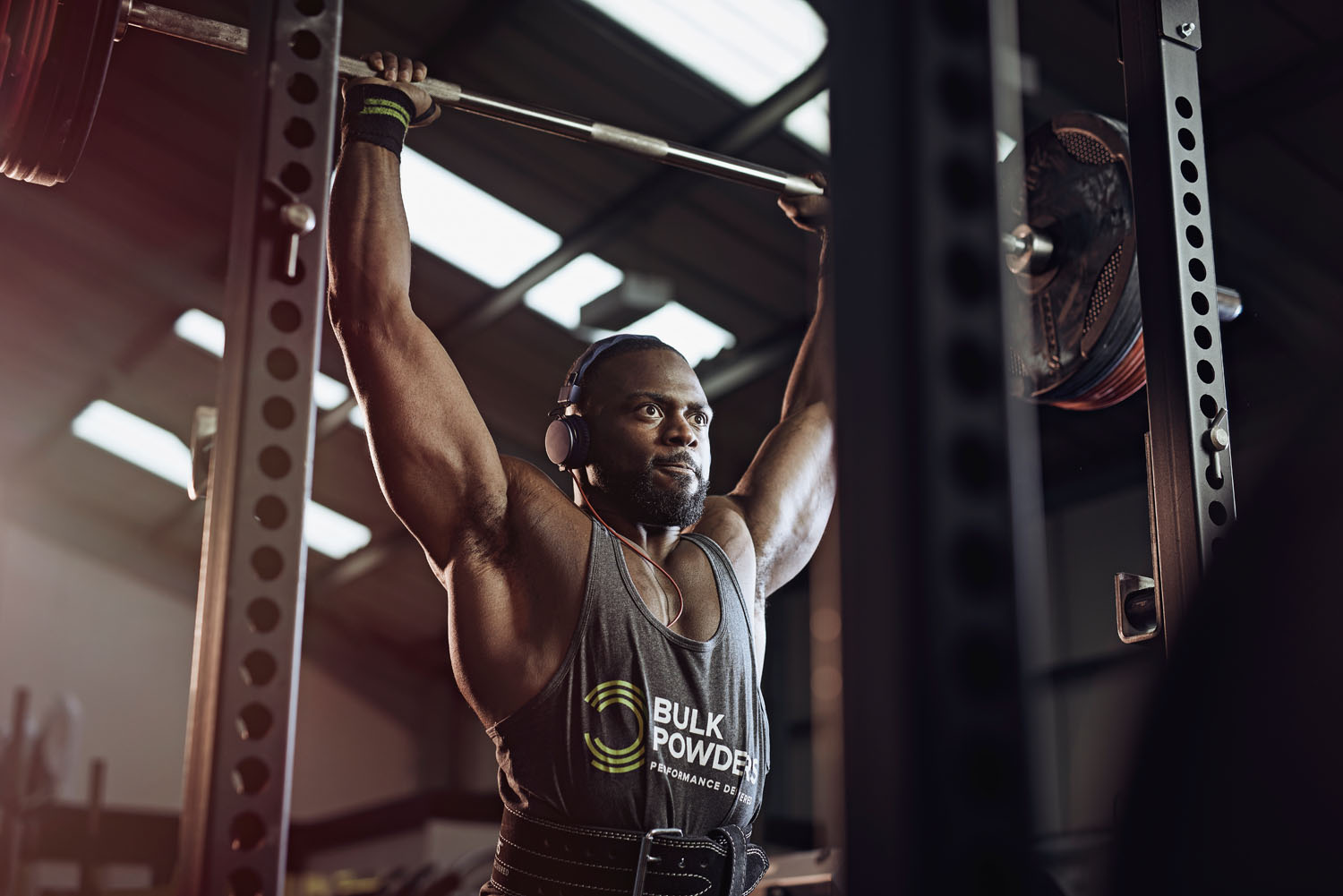 Gabriel Sey nails the shoulder press