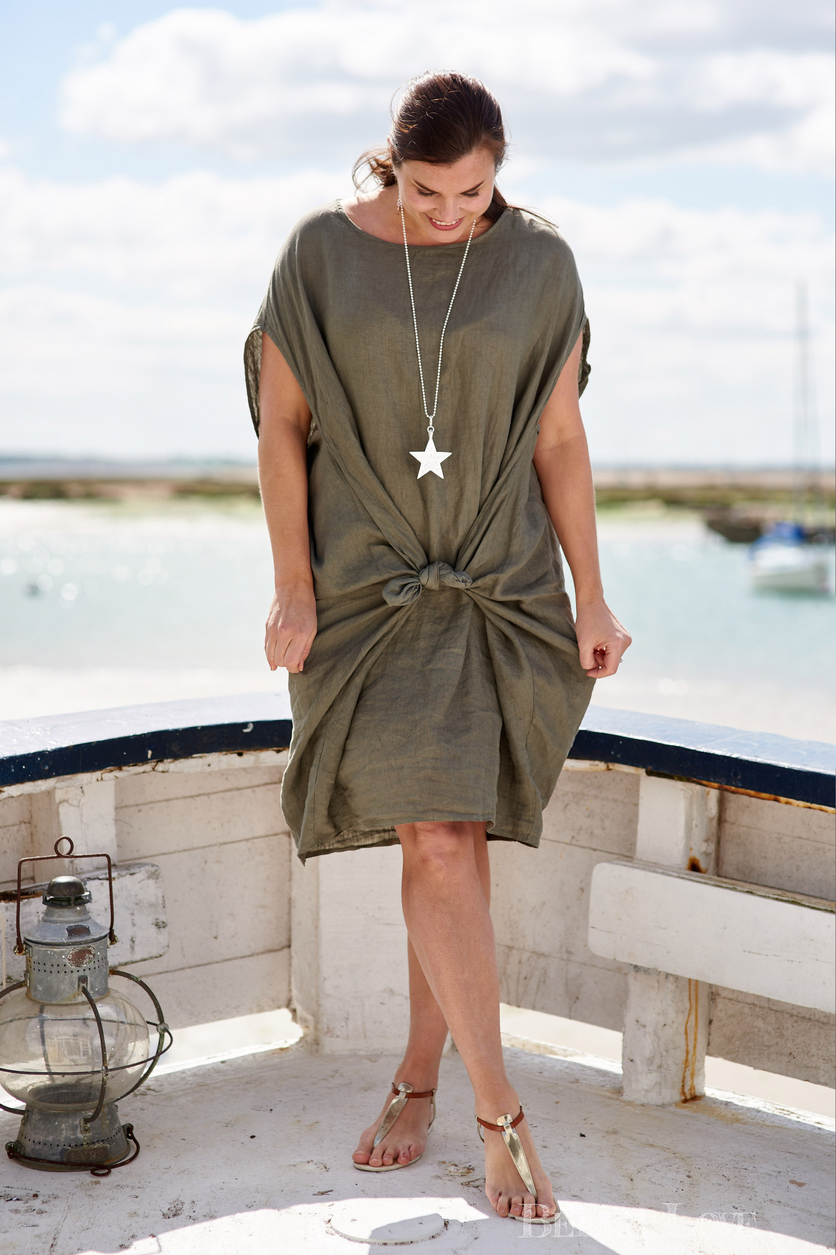 Women's fashion shoot on Mersea Island