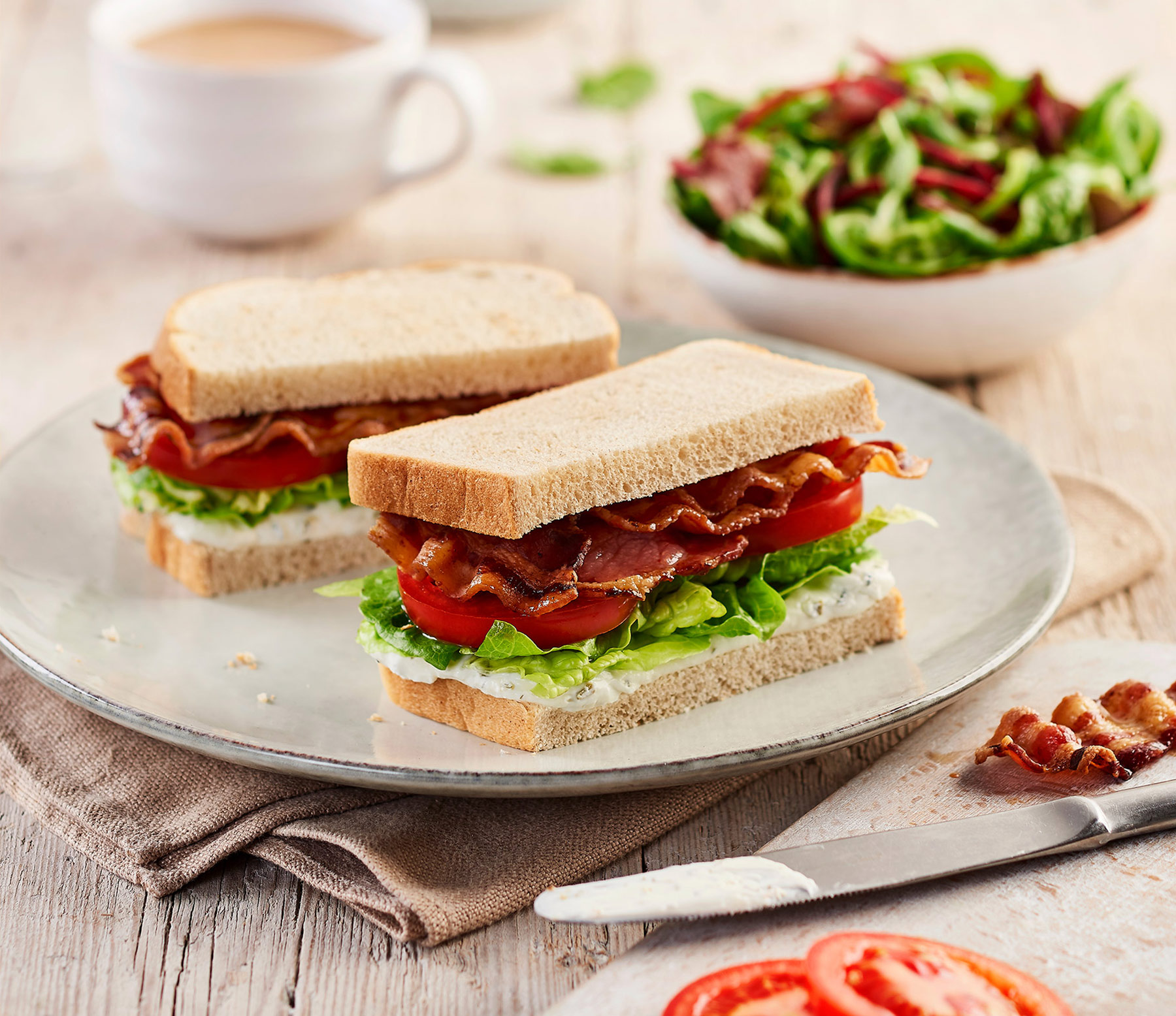 Bacon sandwich photography