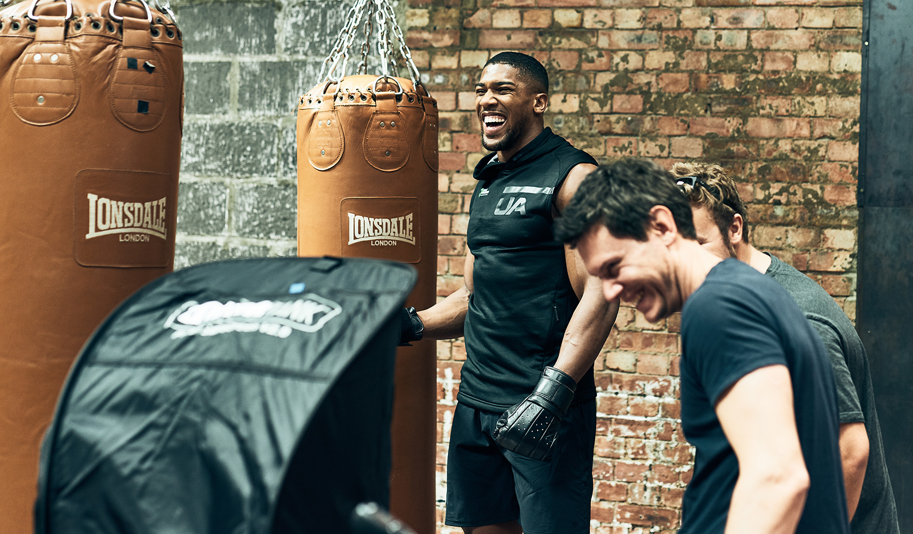 Behind the scenes on our photoshoot with Anthony Joshua