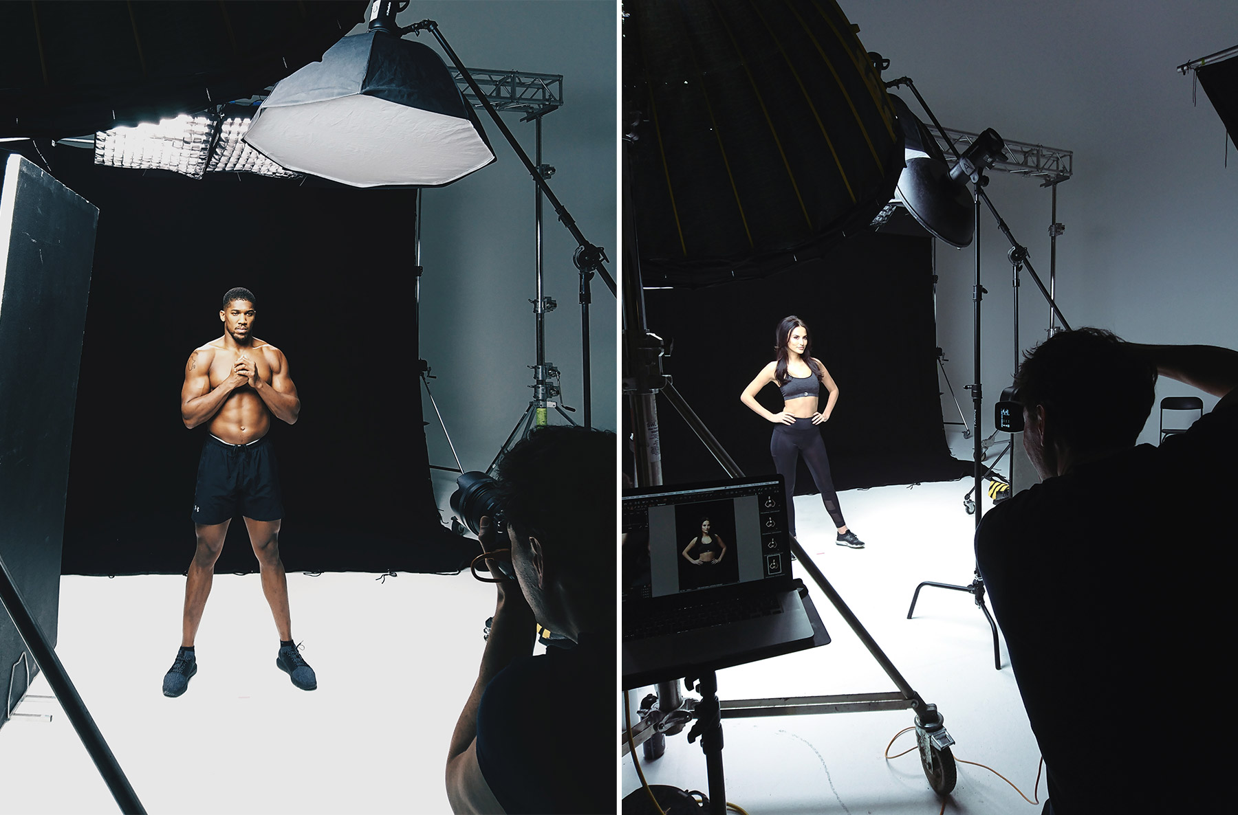 Behind the scenes on a sports celebrity shoot
