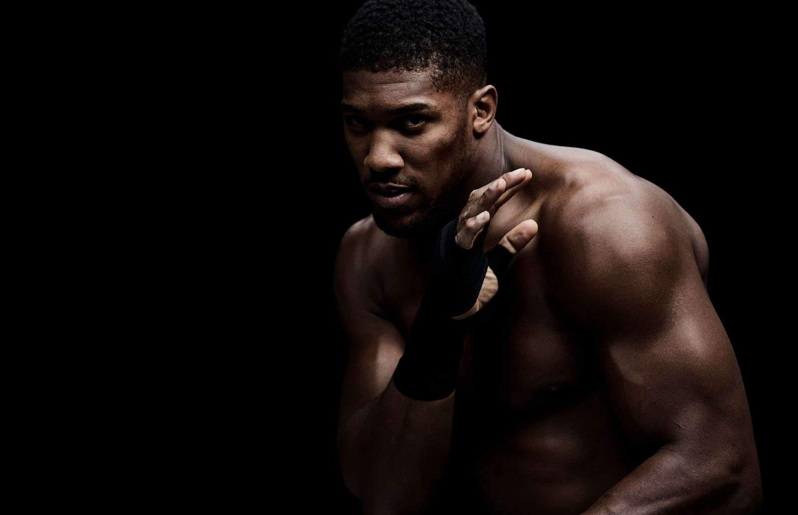 World champion boxer Anthony Joshua for Bulk Powders, photographed by CliQQ