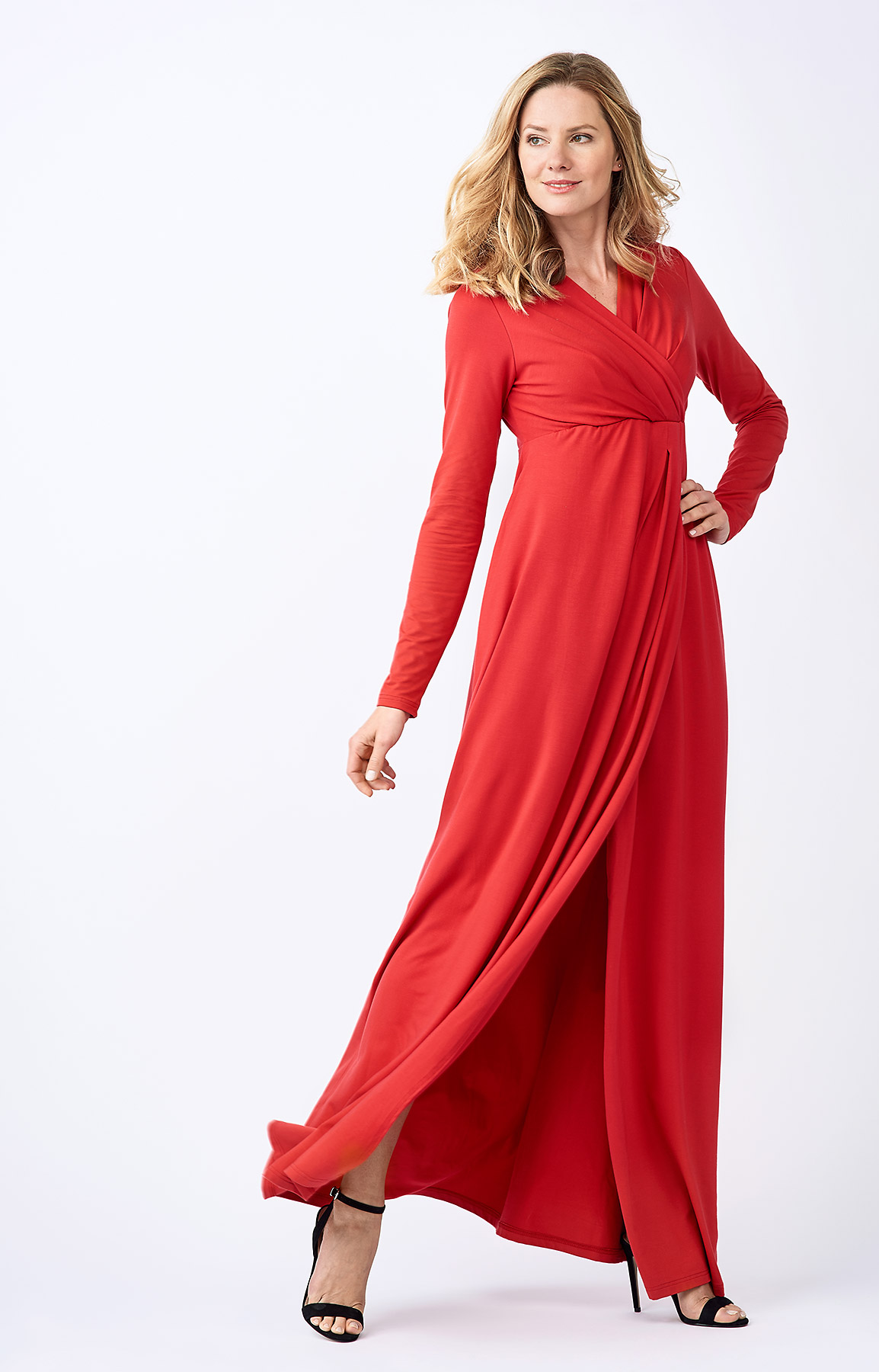 The Adélie Ayda dress in red