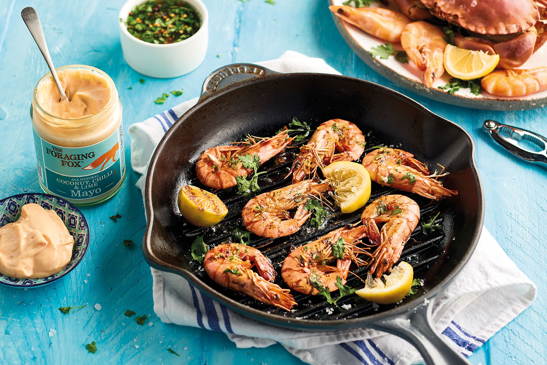 Prawns with coconut and chilli mayo
