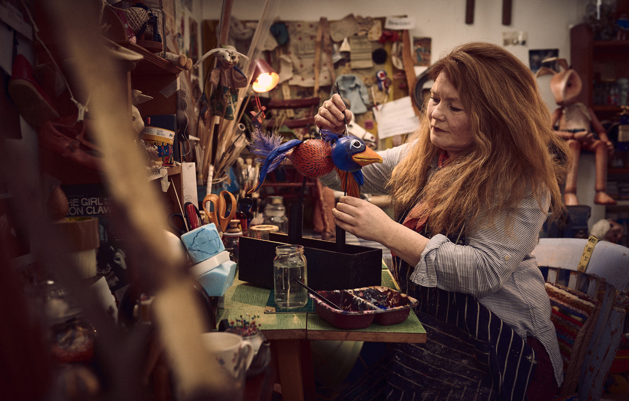 Judith working in her studio