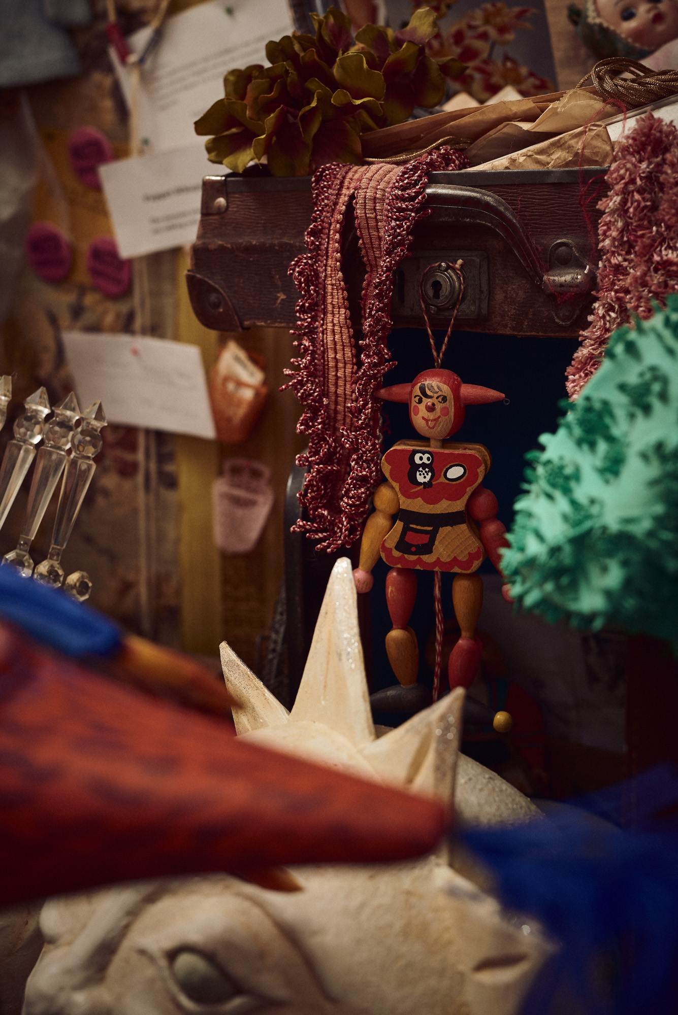 Detail from the studio of a puppeteer