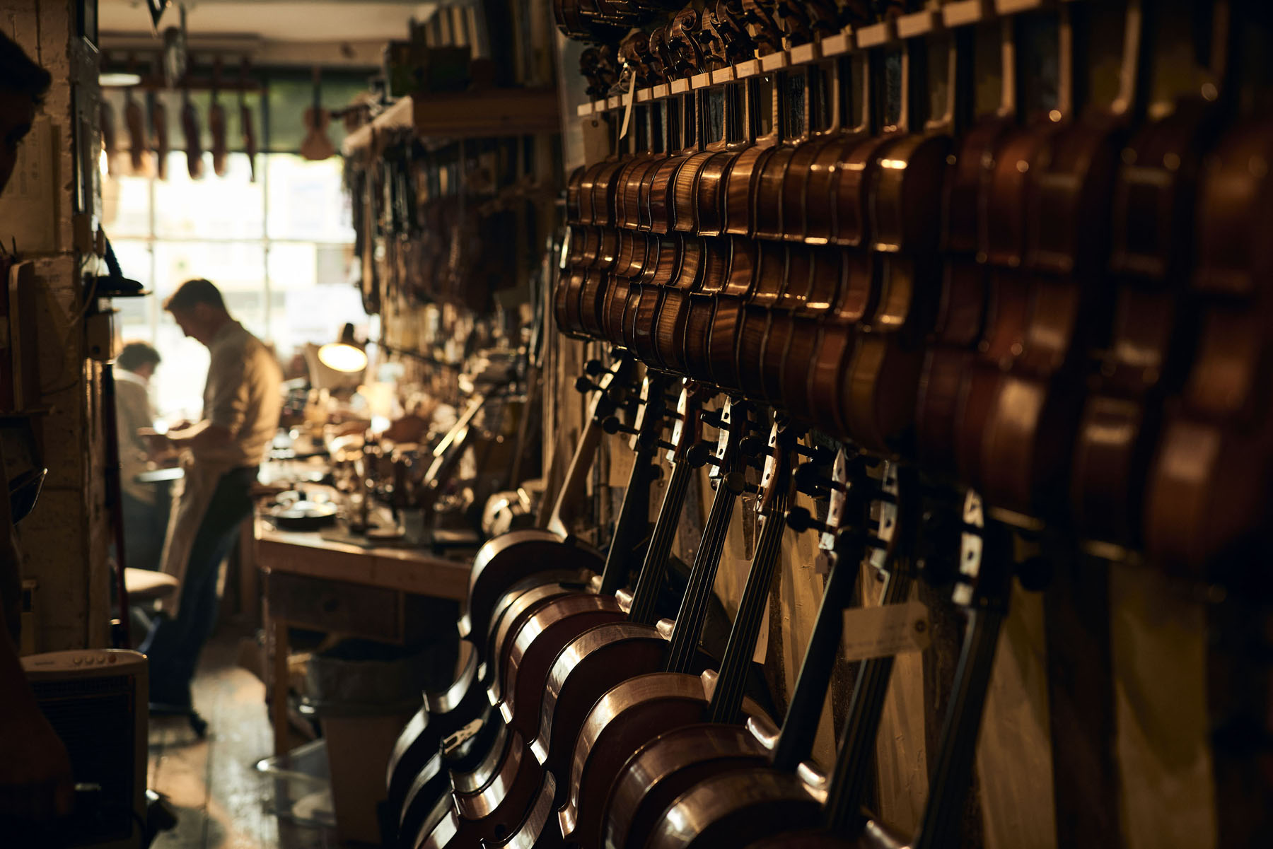 In the violin repair shop