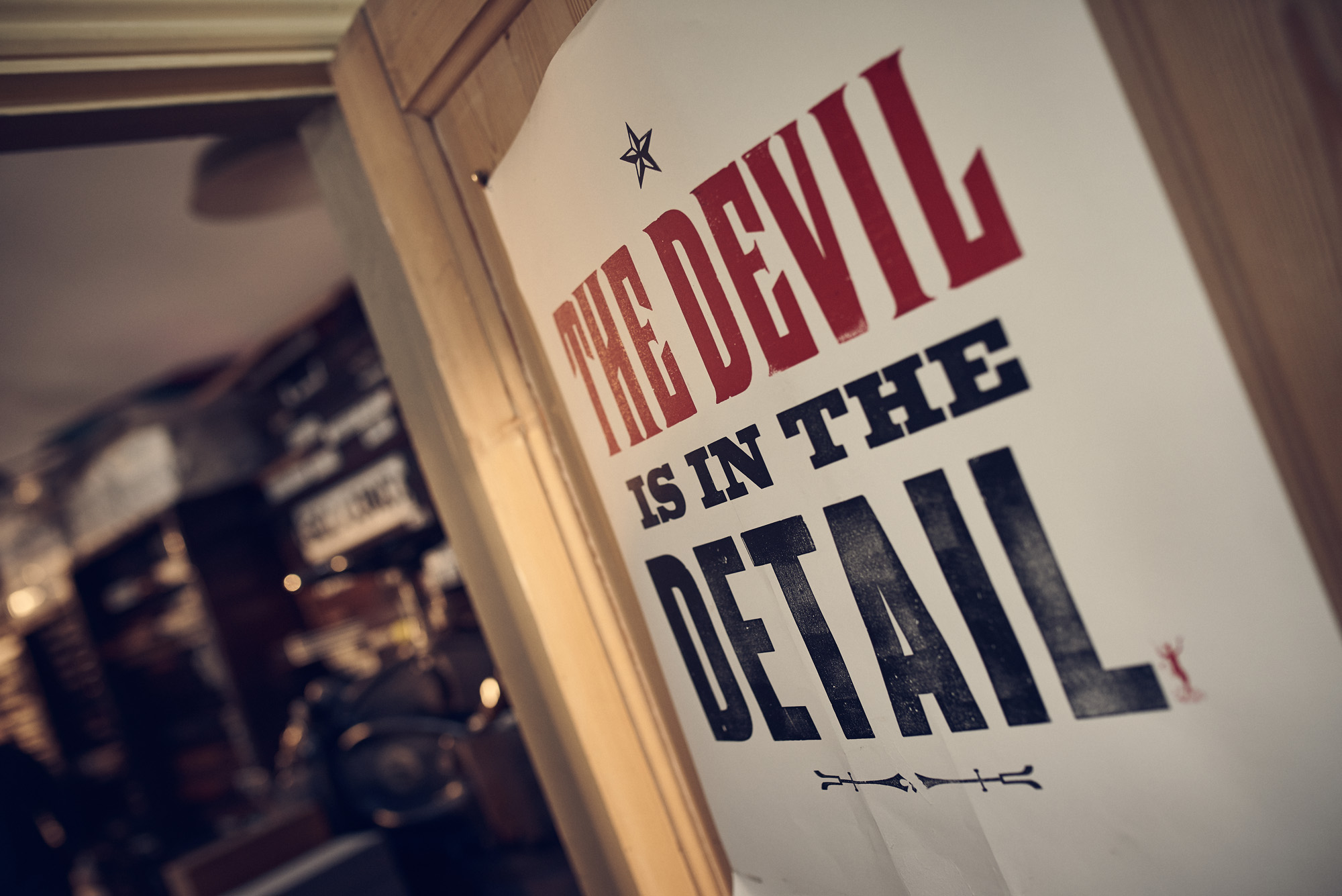 The devil is in the detail poster