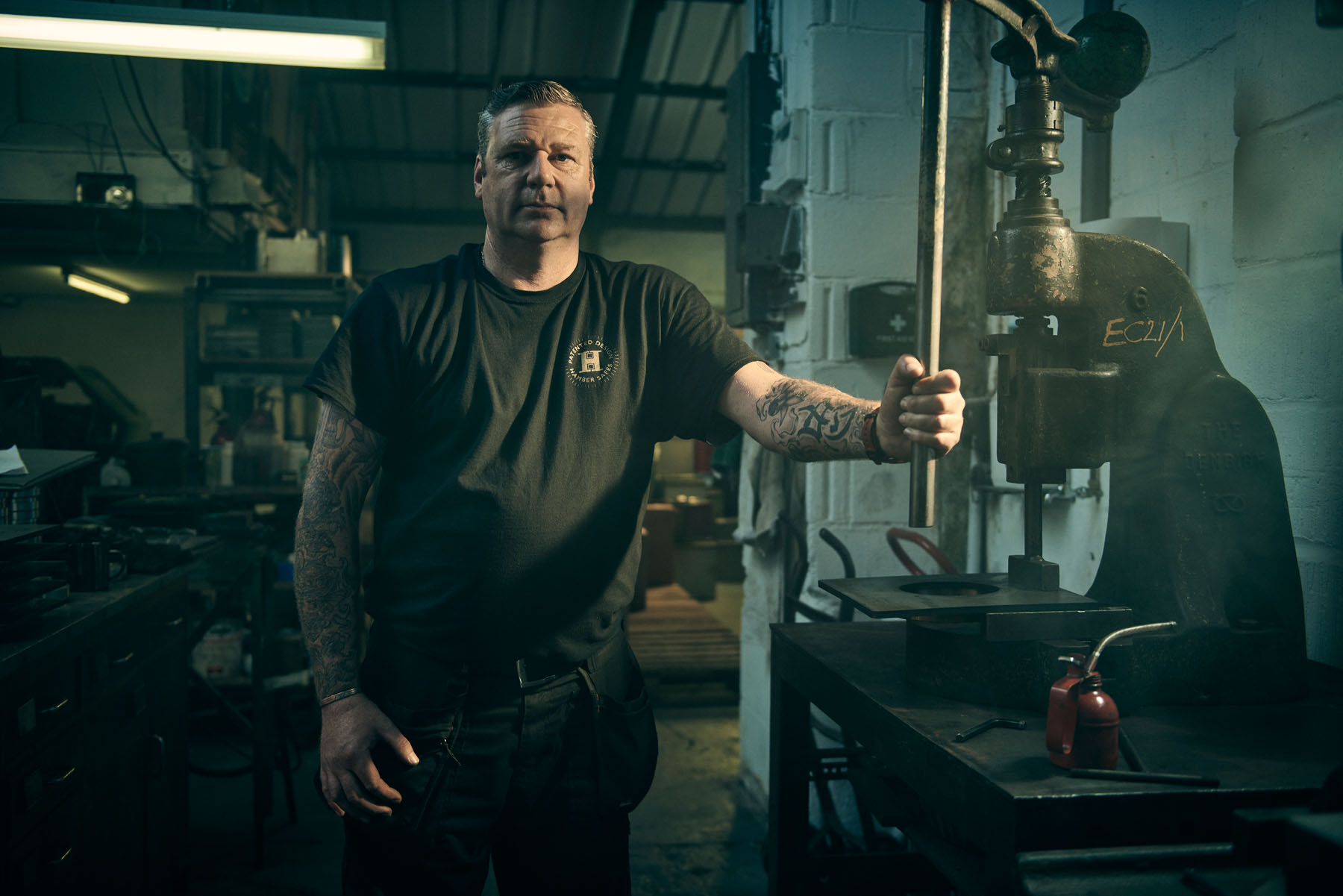 Portrait of Andy, engineer at Hamber Safes