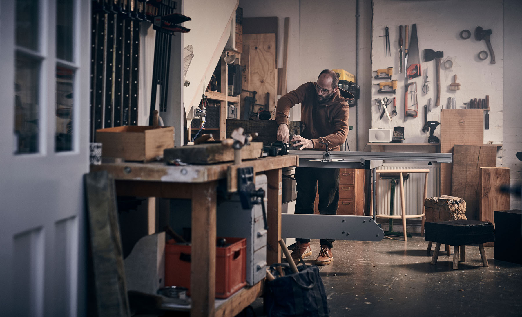 Gareth Neal at work in his studio