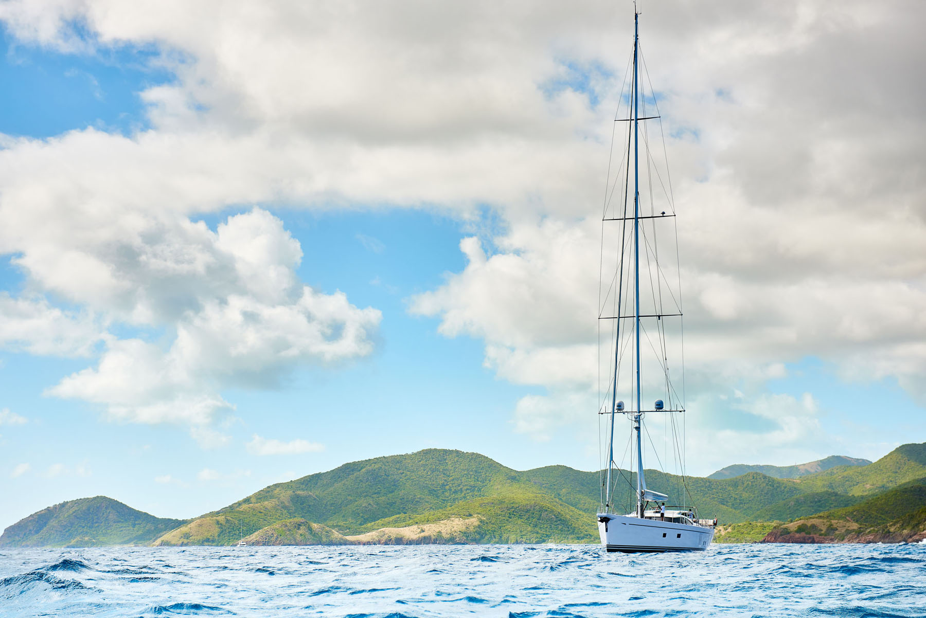 The beautiful scenery of Antigua provided a stunning backdrop to this yacht photoshoot