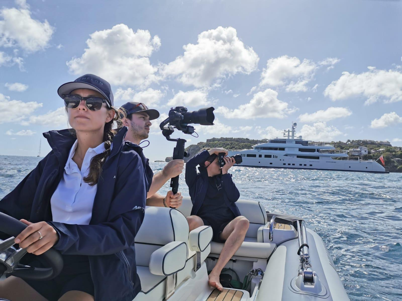 Behind the scenes on our S/Y Archelon shoot
