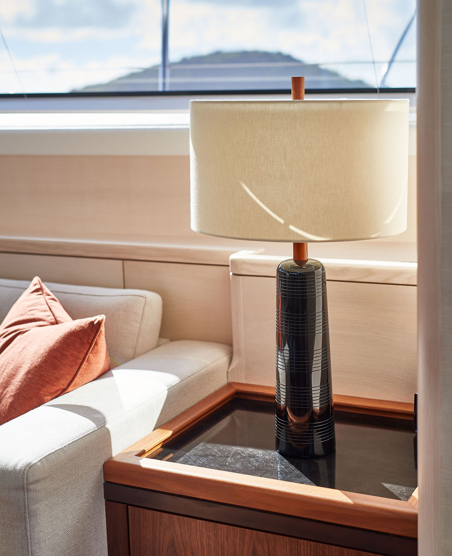Lamp detail onboard the S/Y Archelon