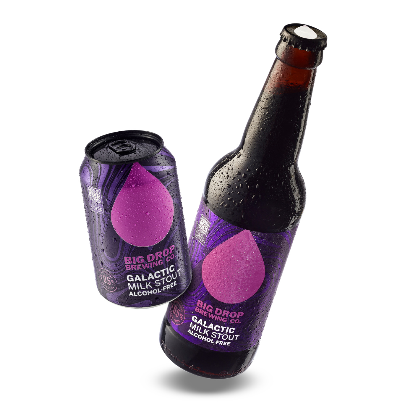 Big Drop Galactic Milk Stout can and bottle